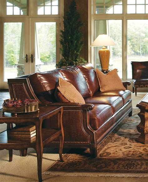 living room hancock and leather sofa discount at