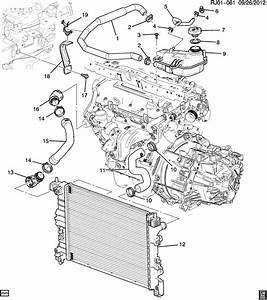 2014 Chevrolet Sonic Ltz 4dr Hose  Engine Coolant By