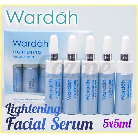 wardah lightening serum 5x5ml shopee indonesia