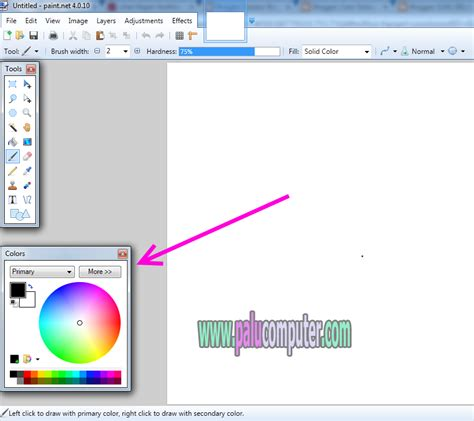 paint net color menu how to bring up colors in paint net learn to repair