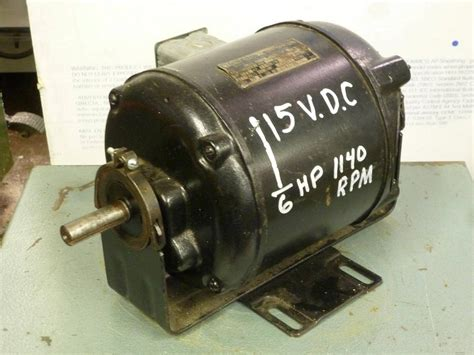 Vintage Electric Motor by Vintage Wagner 115 Vdc Dc Electric Motor 1 6 Hp Antique