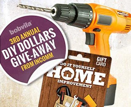 Win $1,000 Diy Home Improvement Gift Cards Granny's