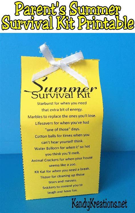 gear bag 02 parent summer survival kit printable survival kits