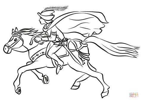 Prince on Horse coloring page Free Printable Coloring Pages