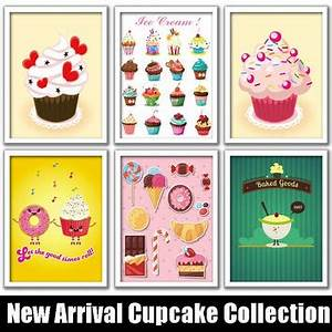 Shop ice cream wall decorations on wanelo for What kind of paint to use on kitchen cabinets for pop art wall decals