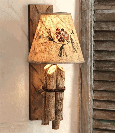 Twig Wall Lamp w/ Pinecone Shade