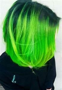 Image Gallery lime green hair dye