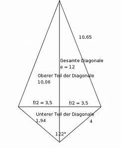 Diagonale Dreieck Berechnen : diagonale rhombus mit diagonalen e 12 cm und f 7 cm ~ Themetempest.com Abrechnung