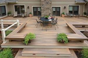 terrasse en bois et jardin zen espace zen With faire sa terrasse en bois soi meme
