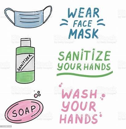 Mask Wear Hands Wash Sanitize Face Protection