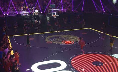 nike creates basketball court  interactive led flooring