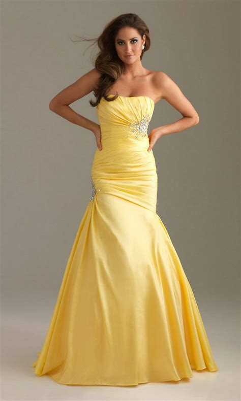 yellow dress for wedding yellow strapless mermaid wedding dress with sequincherry cherry