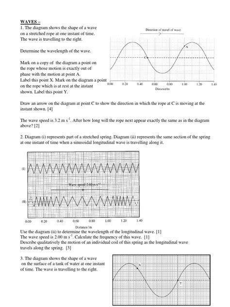Waves  Worksheet 2  Waves Light