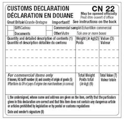 zenstores print cn cn customs forms