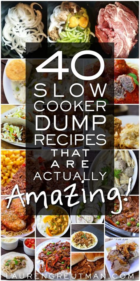 40 cooker meals 40 dump recipes for the slow cooker that are actually amazing