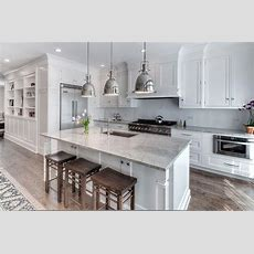 Super White Granite Countertops  Transitional  Kitchen