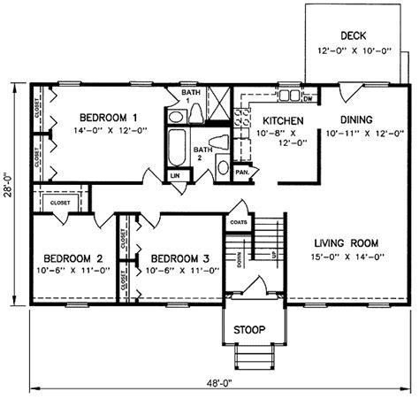 split level house plan 1970s split level house plans split level house plan