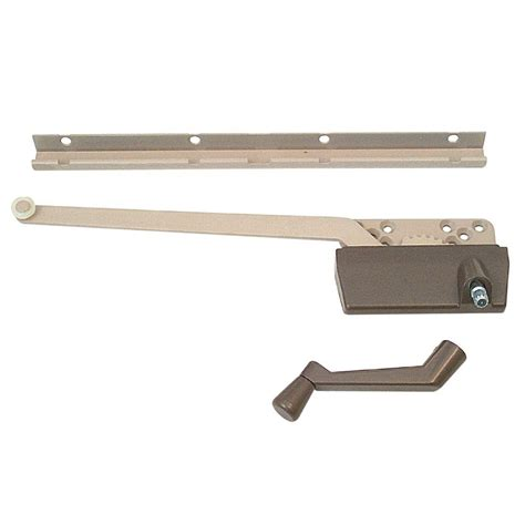 prime     bronze  arm wood casement operator  track    home depot