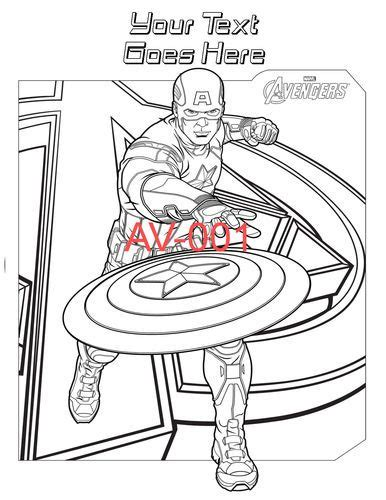 avengers personalized coloring pages pdf file only ebay