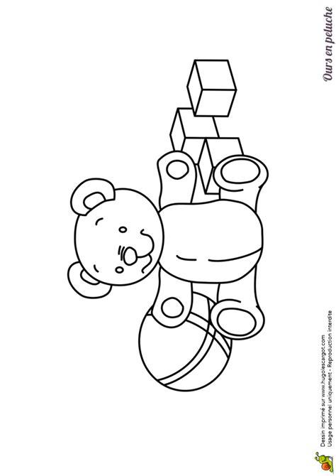 jeux de fille pour cuisine dessin à colorier d un ours en peluche avec des jouets hugolescargot com