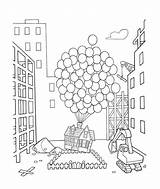 Coloring Pages Balloons Sheets Disney Ellie Carl Colouring Printable Hundreds Cartoon Mailbox 2009 Template Colorings Printables Popular sketch template