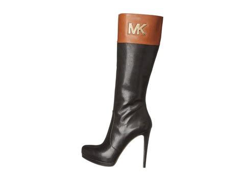 Michael Kors Hayley Amazing 2 Tone High Heel Sexy Gold Mk
