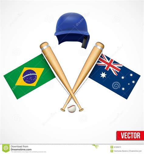 symbols  baseball team brazil  australia stock