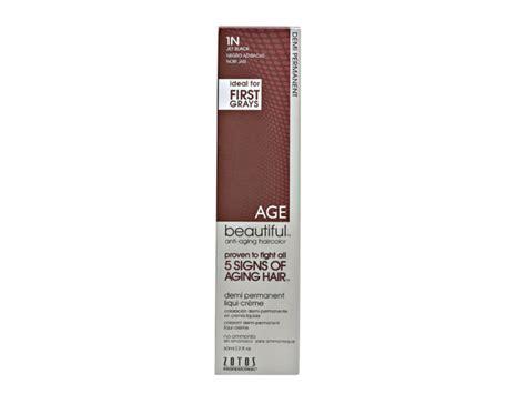 Agebeautiful Demi Permanent Liqui-creme Hair Color, 1n Jet