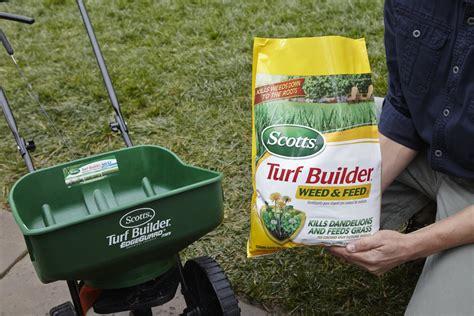 Scotts Turf Builder Grass Lawn Food Fertilizer Weed Killer