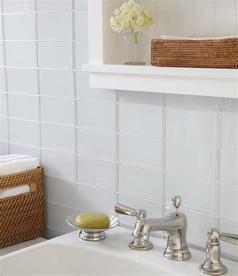 Soft White Glass Subway Tile   Modwalls Lush Cloud 3x6
