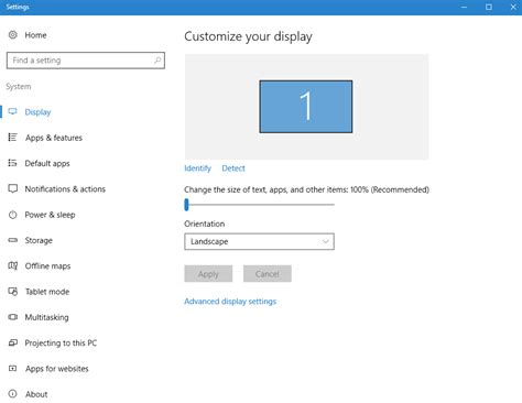 how to change dpi scaling for display from windows 10 settings