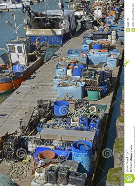 Boat Supplies Brighton by Fishing Tackle On A Pontoon Royalty Free Stock Photo