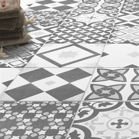 patterned kitchen wall tiles shop the vibe grey patterned wall and floor tiles 223 x 4107