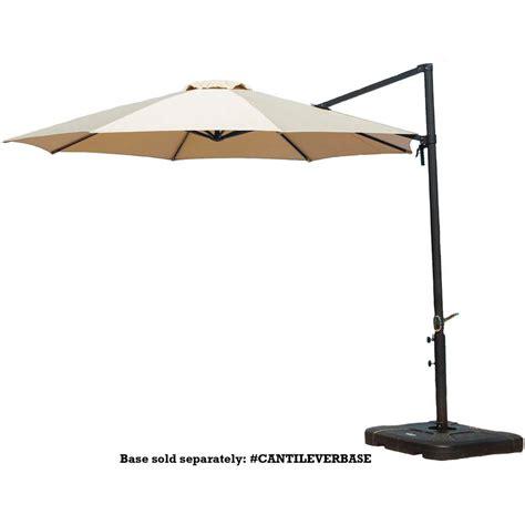 hton bay 11 ft led offset patio umbrella in