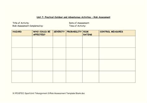 Download Bridge Child Template by Risk Assessment Template Construction