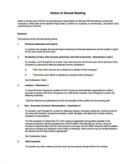meeting notice templates  google docs ms word