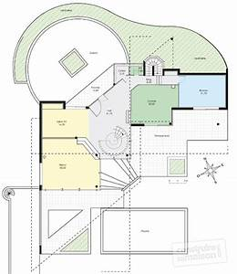 Maison d'architecte 1 Détail du plan de Maison d'architecte 1 Faire construire sa maison