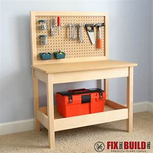 DIY Kids Workbench - buildsomething com
