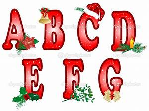 christmas alphabet clipart 101 clip art With holiday alphabet letters