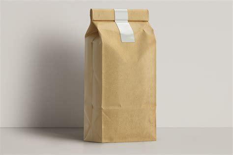 kraft coffee bag packaging mockup psd mock  templates