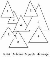 Triangles Coloring Worksheets Preschool Triangle Shapes Worksheet Learning Activities Colors Visit Coloringtop sketch template