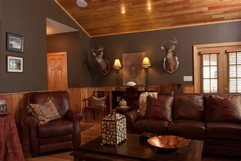How to Design the Ultimate Man Cave - Rustic - Living Room