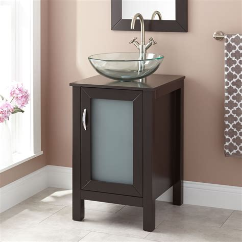 claxton vessel sink vanity espresso bathroom