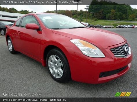 code red metallic  nissan altima   coupe charcoal interior gtcarlotcom vehicle