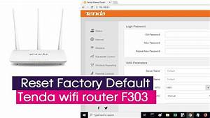 Factory Default Settings For Tenda F3 Router Device