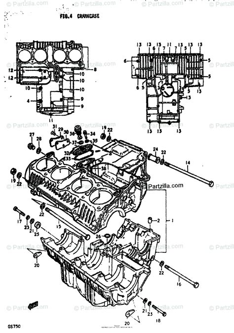 Suzuki Motorcycle Oem Parts Diagram For Crankcase