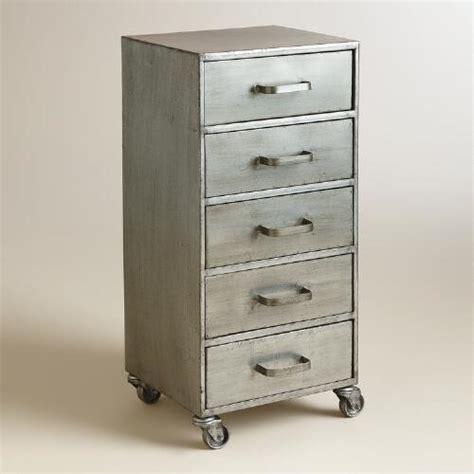 5 drawer file cabinet metal 5 drawer jase rolling file cabinet world market