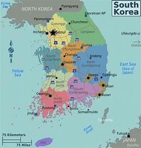 Carte Corée du Sud | Carte du monde