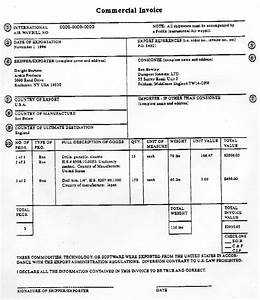 ups commercial invoice sample