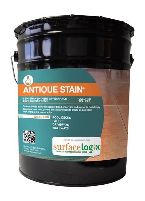 antique stain concrete stains surfacelogix